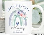 Personalised Birthday Mug, Best Nana Ever mug, Best Grandma Mug, Nanny coffee cup, Grandmother gift, Nana Gift Idea, Birthday Gift