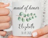 Maid of Honor Gift, Bridesmaid Mug, Bridesmaid Gift, Mother of the Groom Gift, Mother of the Bride Gift, Thank You Gift, Wedding Mug