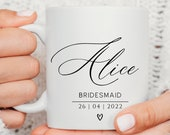 Wedding Gift for Bridesmaid, Mother of the Bride Cup, Mother of the Groom Gift, Maid of Honour, Bridesmaid Gift From Bride, Name Cup