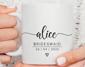 Bridesmaid Gift, Mother of the Bride Gift, Maid of Honour Gift, Mother of the Groom Gift, Bridesmaid Mug, Bridal Party Mugs, Brides to be