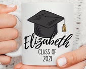 Personalised Graduation Gift Mug, Present for Students, Congratulations, Class of 2021, Gift for Daughter, Son, Friend, College Graduation