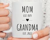 Grandparent Mugs, Pregnancy Reveal To Grandparents, Grandma Mug, New Grandparents, Personalized Mugs, Future Grandma, Mother's Day Gift