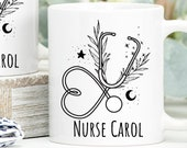 Personalised Nurse Mug, Gift for Nurse, Hospital worker gift, Hospital Nurse Gift, Doctor Stethoscope, Doctor gift, NHS Gifts, Thank You Mug