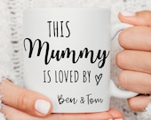 Personalised Mug For Mum, This Mummy Is Loved By Mug, Mummyy First Christmas Mug, Gift For Mom, New Mom, New Parent Gift, Mothers Day