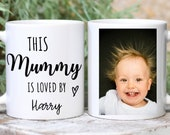 Personalised Photo Mug For Mum, This Mummy Is Loved By Mug, Mummyy First Christmas Mug, Gift For Mom, New Mom, New Parent Gift, Mothers Day