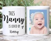 Personalised Photo Mug For Nanny, This Nanny Is Loved By Mug, Nanny First Christmas Mug, Gift For Grandma, New Nan, New Parent Gift