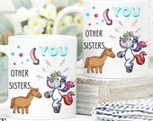 Funny Gift for Sister, Personalized Custom Gift for Sister, Sister Birthday Gift, Sister Mug, Soul Sisters Gift,