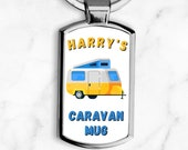 Personalised Caravan Keyring, Motorhome Keyring, Campers Gift, Gifts For Him or Her, Friend Birthday, Christmas, Vacation Holiday Gift