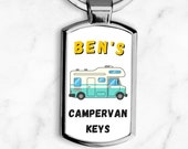Personalised Motorhome Keyring, Personalised Motorhome Gift, Motorhome Lover Gift, Personalised Keyring, Gifts For Him or Her, Birthday Gift