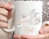 Custom Mug Personalised 11 oz, Winter Wolf, Personalised Mothers Day Gift, Personalised Birthday Gift, Personalised Mum Gift, Animal Lover