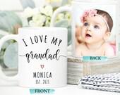 Personalised Grandad Gift, Photo Mug For Grandad, Grandad First Christmas, Gift For Grandad, New Grandad Gift, Custom Grandpa, Grandparent