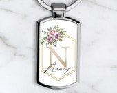 Personalised Name Initial Keyring New Home Keychain, First Home Gift, New Home Gift, Personalised Keychain, Personalized Gift for Her