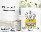 Writer Gift, Custom Mug Personalised, Future Best Selling Author, Author Mug, Book Lover Gift, Future Author Gift, Gift For New Author