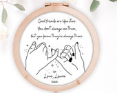 Good Friends Are Like Stars, Personalised Rose Gold Compact Mirror, Friendship Gift, Best Friend Gift, Gift for Her Birthday Gift for Friend