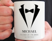 Father of the Bride Gift, Father of the Groom Cup, Best Man Mug, Wedding Thank You Gift, Groomsman Gift, Will You Be My Groomsman,