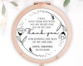 Personalised Mother of Groom Bride, Thank you from Bride Groom, Quote Greenery Rose Gold Compact Mirror, Wedding Gift, Bridesmaid