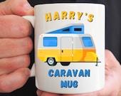 Personalised Caravan Mug, Mug for Him, Motorhome Mug, Campers Gift, Mug for Her, Friend Birthday, Christmas, Congrats, Vacation Holiday Gift