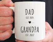 Grandparent Mugs, Pregnancy Reveal To Grandparents, Grandpa Mug, New Grandparents, Personalized Mugs, Future Grandpa, Father's Day Gift