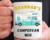 Personalised Campervan Mug, Motorhome Mug, Campers Gift, Mug For Him or Her, Friend Birthday, Christmas, Congrats, Vacation Holiday Gift