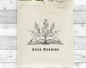 Gifts For Readers, Custom Tote Bag, Personalised, Tote Bag For Reader, Literary Gifts, Just One More Chapter, Book Bag, Gift Idea Teacher