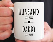 Husband Daddy Mug, New Dad Mug, Pregnancy Reveal To Dad, Future Daddy Gifts, Personalized Gifts for Dad, Fathers Day Gift from Wife
