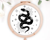 Snake Compact Mirror, Celestial Pocket Mirror, Magic Gift, Astronomical Gift, Gift for Her, Alchemy, Birthday Gift, Best Friend Gift, Witch