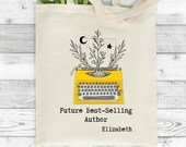 Storyteller Tote Bag, Future Author Gift, New Writer, Best Selling Author, Writer Birthday gift, Gifts for Writers, Personalised Tote Bag