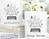 Story Teller Mug, Writer Gift, Custom Mug Personalised, Author Mug, Book Lover Gift, Future Author Gift, Minimalist Mug, Literary Gift