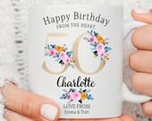 Personalised 50th Birthday Mug, Best Nana Ever mug, Best Grandma Mug, Nanny coffee cup, Grandmother gift, Nana Gift Idea, Birthday Gift