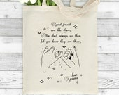 Personalised Tote Bag, Good Friends Are Like Stars, Friendship Gift, Best Friend Gift, Gift for Her, Friend Present, Astrology Tote Bag