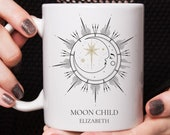 Custom mug personalised, Moon Child, Astrology Mug, Gifts For Her, Birthday Gift, Coffee Mug, Spiritual Wellness Gift, Moon Cycle