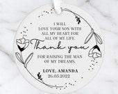 Personalised Mother of the Groom Wedding Gift, Mother of the Groom Gift, Personalised Hanging Ornament, Keepsake, Bride Thank you gift