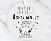 Mother Fucking Homeowner Gift, Personalised New Home Ceramic Decoration, Christmas Ornament 2021, Housewarming Gift, Congrats Gift Idea