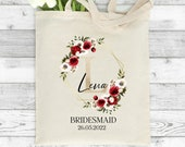 Personalised Tote Bag, Bridesmaid Gift, Thank You Gift, Maid of Honour Gift, Mother of the Groom Gift, Mother of the Bride Gift, Keepsake
