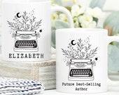 Future Best Selling Author, Writer Gift, Custom Mug Personalised, Author Mug, Book Lover Gift, Future Author Gift, Gift For New Author