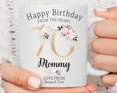 Personalised 70th Birthday Mug, Best Nana Ever mug, Nanny coffee cup, Grandmother gift, Nana Gift Idea, Birthday Gift, Mom Friend Daughter