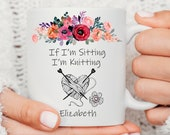 Knitting Mug, Gift For Knitter, Knitter Gift, Knitter Mug, Crochet Gift Personalized Mug, Gift For Nana, Best Gift Mug For The Knitting 2020