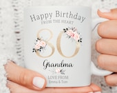 Personalised 80th Birthday Mug, Best Nana Ever mug, Nanny coffee cup, Grandmother gift, Nana Gift Idea, Birthday Gift, Mom Friend Daughter