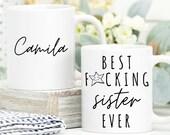 Mug for her, Best Fucking Sister Ever, Personalised Funny Sister Mug, Gift for Sister, Birthday Gift,  Custom Name Mug, Sister Coffee Mug