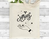 Aries Zodiac Tote Bag, Zodiac Tote Bag, Zodiac Gifts, Astrology Tote Bag, Astrology Gifts, Gifts For Her, Birthday Gifts, Aries Gift