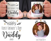 Personalised Daddy Mug, Photo Gift Daddy, Fathers Day Gift, Present for Dad, First Father's Day, New Dad Father's Day, Present for Dad