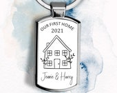 Personalised First Home Keyring, New Home Keychain, First Home Gift, New Home Gift, Personalised Keychain, New Home Keyring, Home Sweet Home