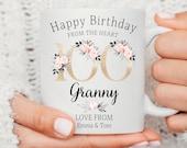 Personalised 100th Birthday Mug, Best Nana Ever mug, Best Grandma Mug, Nanny coffee cup, Grandmother gift, Nana Gift Idea, Birthday Gift