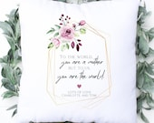 To Us You Are The World, Personalised Special Birthday Cushion, Best Mum Ever, Birthday Gift, Personalised Mother's Day Cushion, Mum Grandma