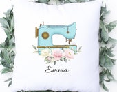 Personalised Gift ,Sewing, Christmas Gift, Name Pillow, Crafty Sewing Machine Pillow, Personalised Sewing Cushion, Nan Aunt Mum Friend Gift