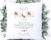 Personalised Special Birthday Cushion, Best Mum Ever, Name Cushion, Birthday Gift, Personalised Mother's Day Cushion, Mum Daughter Grandma