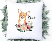 Corgi Personalised Cushion, Christmas Gift for Dog Mum, Dad, Custom Dog Pillow, Corgi Mom, Corgi Dad, Corgi Lover, Welsh Corgi Gift,