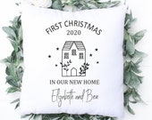 First Christmas In Our New Home 2020, Christmas Cushion Cover, Christmas Pillow, Personalised Cushion, Christmas Gift, Christmas Home Decor