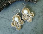 Beautiful Earrings, Soutache Earrings, Earring Gift Idea For Women,