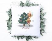 Christmas Pillow, Hello Winter, Christmas Pillow, Personalised Cushion, Christmas Gift for Mom, Dad, Friend, Nana, Christmas home decor,